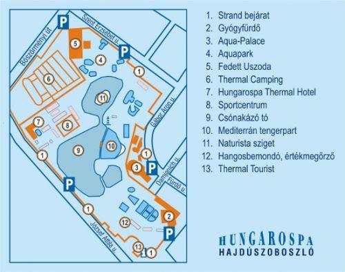 hajdúszoboszló látnivalók térkép Hajdúszoboszlói Strand , Hajdúszoboszló   Helyszín  hajdúszoboszló látnivalók térkép